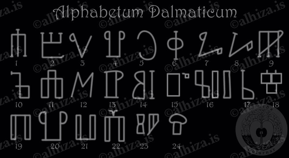 Алфавит Далмация