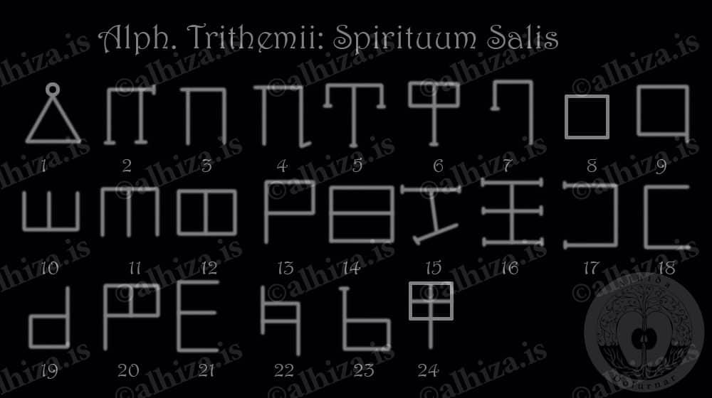 Alph. Trithemii - Spirituum Salis - Соляные духи
