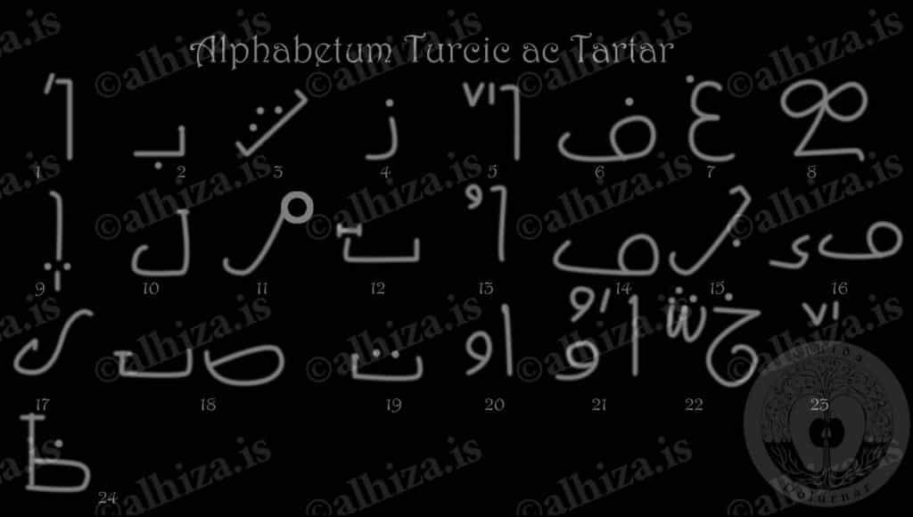 Alphabetum Turcic ac Tartar - Турецко - татарский алфавит