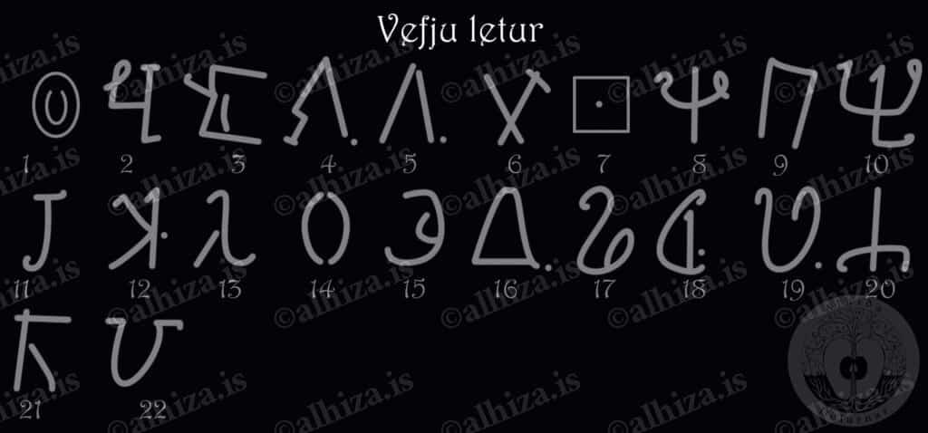 Vefju letur - литеры платков, покровов, тканей